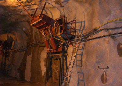 Bergbau Einbau Erzrutschen