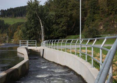 Geländer Laufwasserkraftwerk