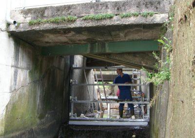 Wasserkraft Einbau Schuetztafel