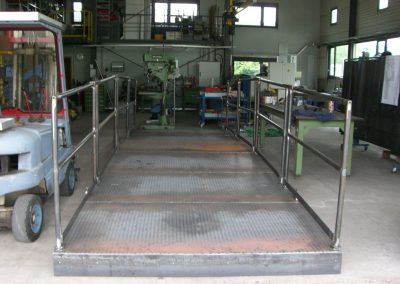 Werkstattbild Wasserkraft Laufsteg